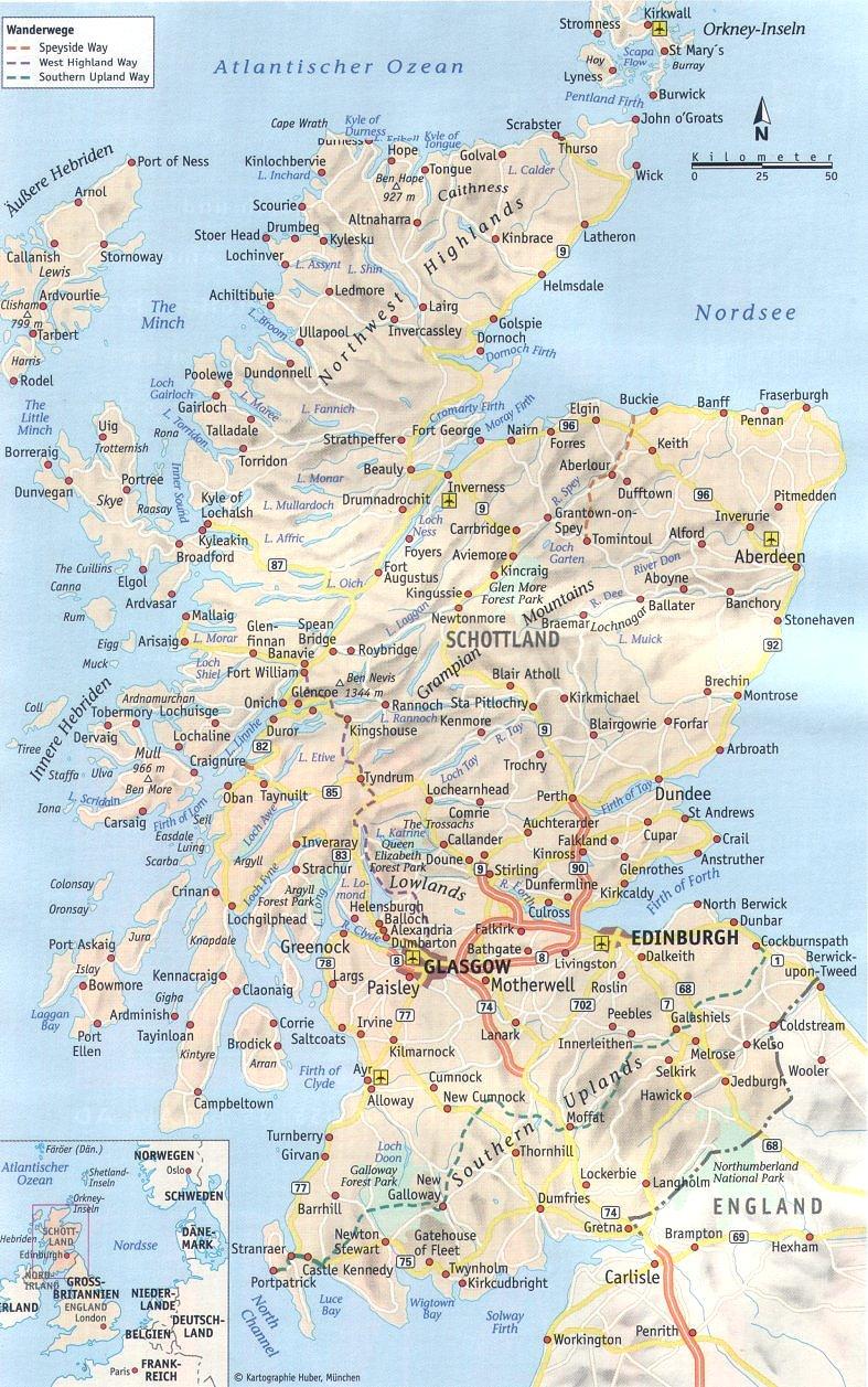Schottland Karte Highlands.Www Alba Schottland De